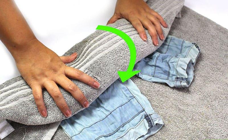 Как быстро высушить штаны после стирки