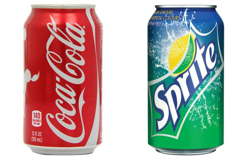Coca-Cola и Sprite