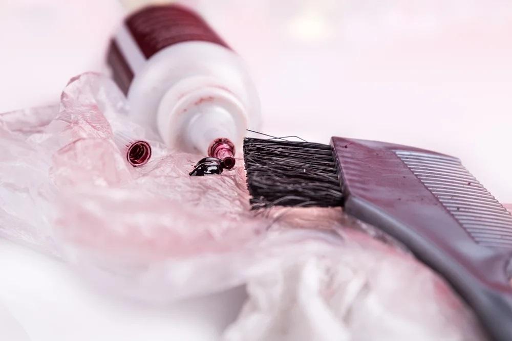 Пятна от краски для волос