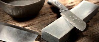 Заточка ножей вручную